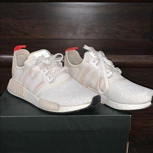 Adidas NMD R1 White Cream Running Shoes Women's 9